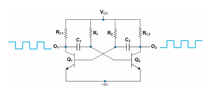 Two Stage Rc Coupled Amplifier Circuit Diagram | Astable Multivibrator Study Electronics