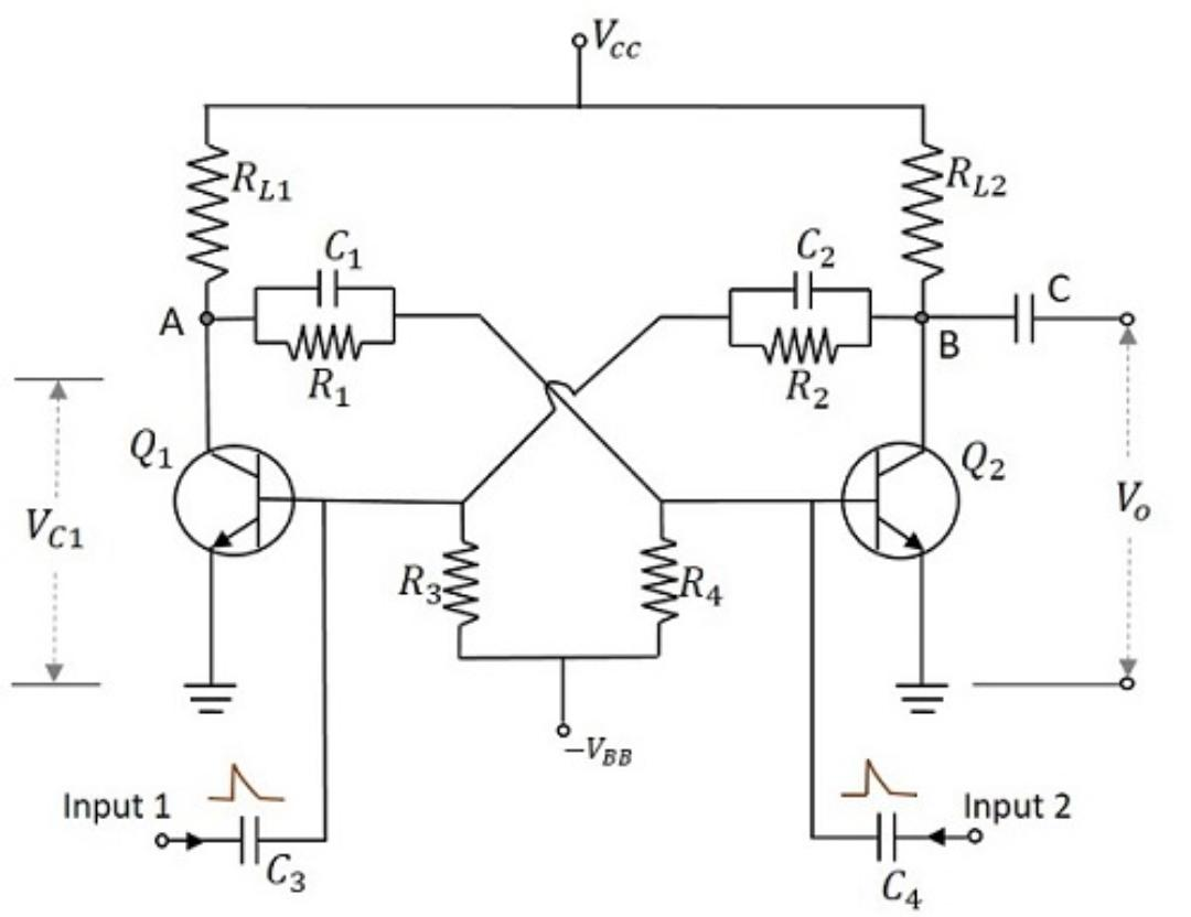 Bistable Multivibrator Circuit Diagram Free Wiring For You 555 Ic Monostable Study Electronics Rh Studyelectronics In Using