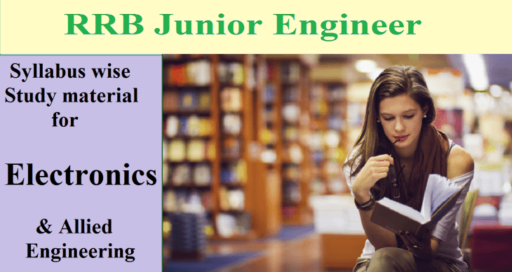 RRB JE Electronics Syllabus wise study material